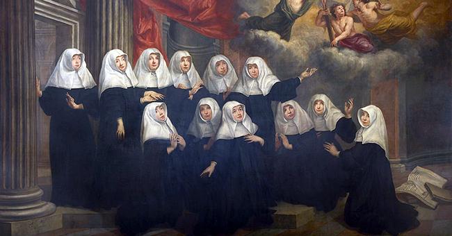 "Jan van Helmont (1650-1714), ""Portrait of the Black Canon Augustinian Nuns in Antwerp"""