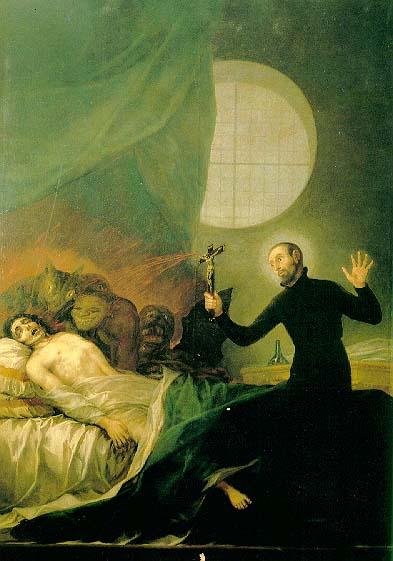 St. Francis Borgia performs an exorcism