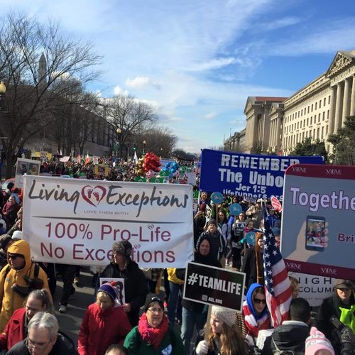 Living Exceptions participates in March for Life.