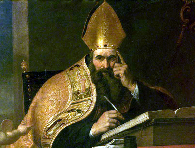"Gerard Seghers (1591-1651), ""The Four Doctors of the Western Church: Saint Augustine of Hippo"""