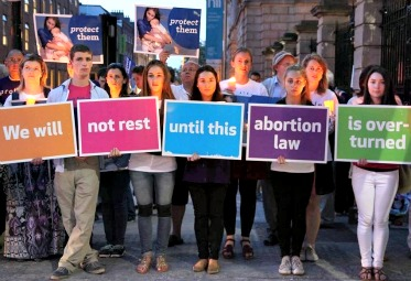 Young Irish pro-lifers keep vigil outside Ireland's Dáil (Parliament) on July 12, the day it passed a bill legalizing abortion.
