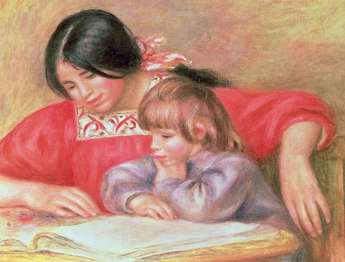 "Pierre Auguste Renoir, ""Leontine and Coco,"" 1909"