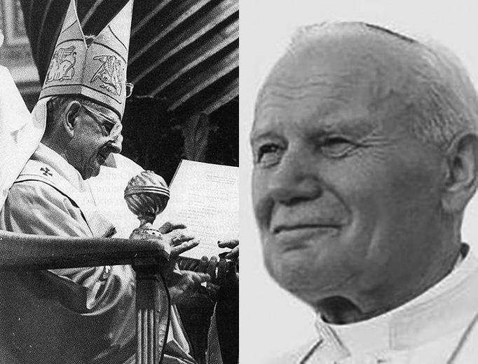 Paul VI in 1977 and John Paul II in 1993