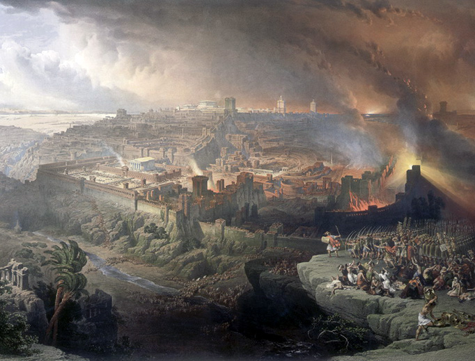 """David Roberts, """"The Siege and Destruction of Jerusalem by the Romans Under the Command of Titus, A.D. 70"""", 1850"""