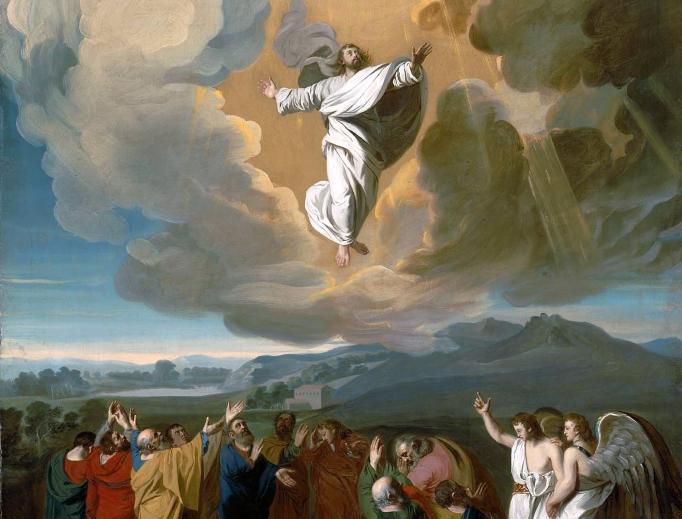 Jesus' ascension to heaven depicted by John Singleton Copley, 1775