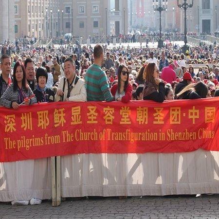 Chinese pilgrims at April 5 general audience