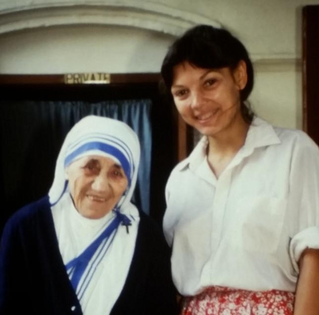 St. Teresa of Kolkata and Reggie Littlejohn.