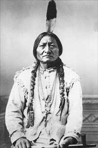 The famous Sitting Bull picture, without the cropping, shows him wearing a Crucifix, he died a Catholic.