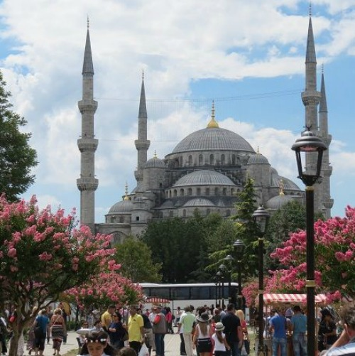 Istanbul's Sultan Ahmet Mosque, known as the Blue Mosque.