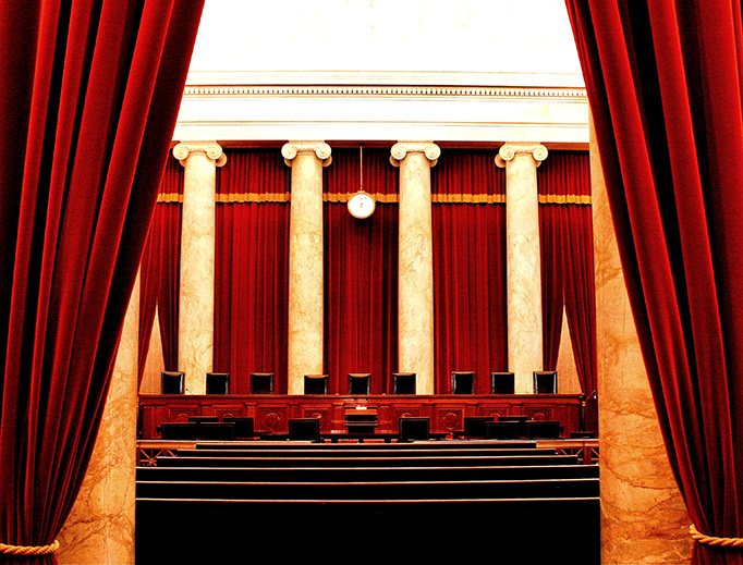 The Courtroom of the U.S. Supreme Court in Washington, DC.