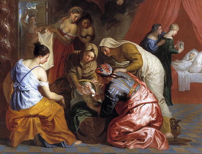 Erasmus Quellinus II, 'The Nativity of the Virgin', ca. 1655