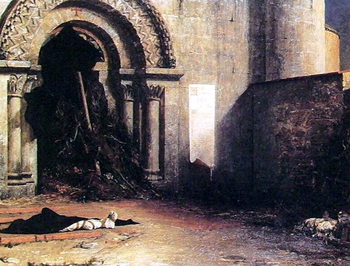 "Jean-Paul Laurens (1838-1921), ""The Interdict"""