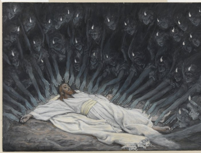 James Tissot, Jesus Ministered to by Angels from the Brooklyn Museum