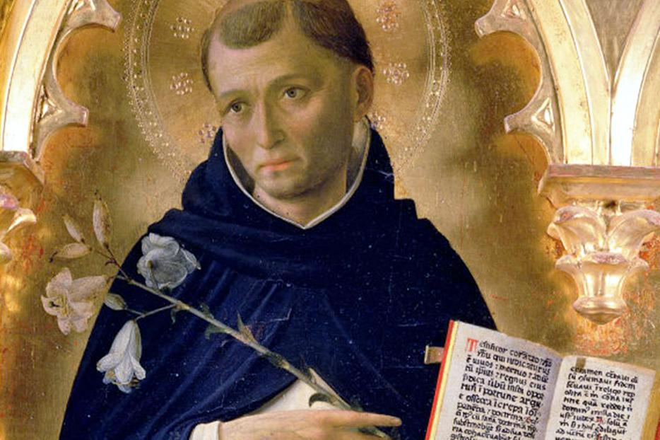 """Fra Angelico, """"St. Dominic"""" (detail from the Perugia Altarpiece), 1437"""
