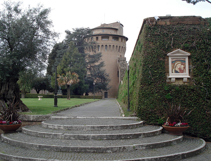 St. John's Tower in the Vatican Gardens is the seat of the Secretariat for the Economy.