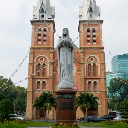 Notre Dame Cathedral in Ho Chi Minh City, Vietnam.