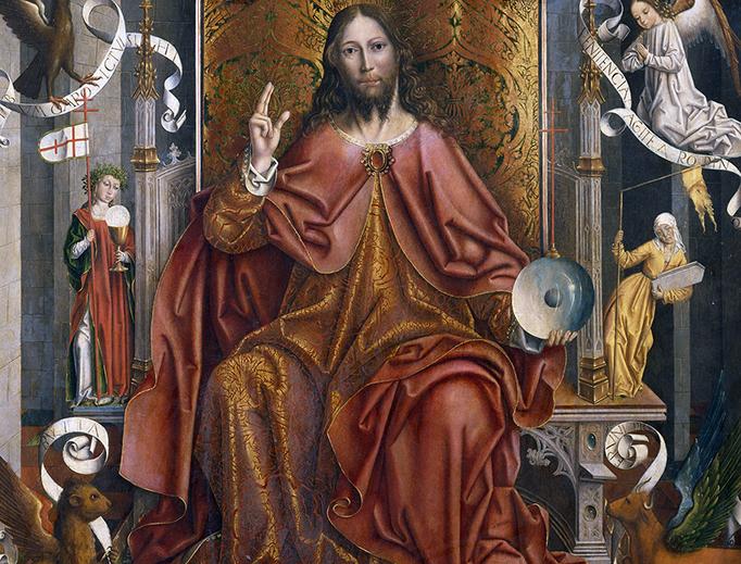 "Fernando Gallego, ""Cristo Bendiciendo"", c. 1495"