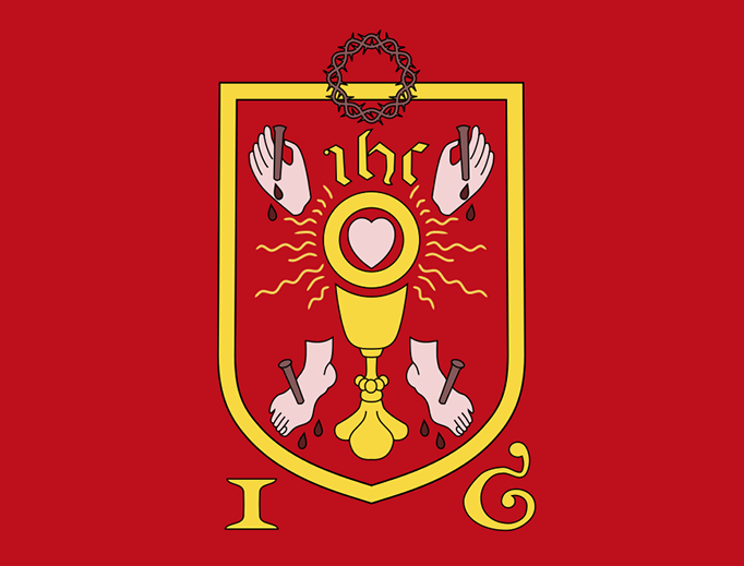Banner of the Holy Wounds, used during the Pilgrimage of Grace.
