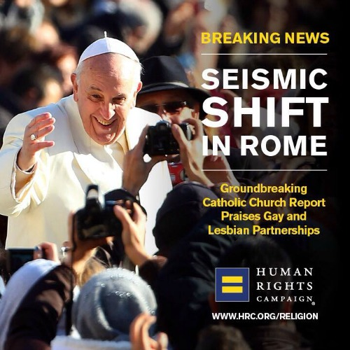 Synod-related Human Rights Campaign poster