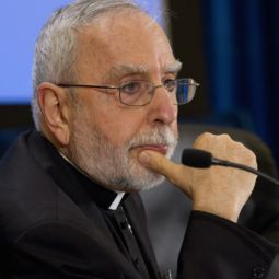 Bishop Gerald Kicanas of Tucson, Ariz., (shown at the U.S. bishops' recent meeting) traveled to the Holy Land with other bishops. His trip was cut short due to the Tucson tragedy.