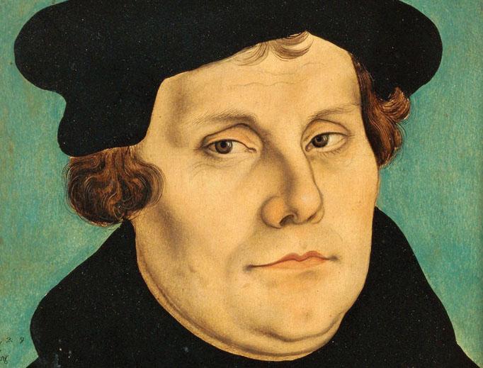 Martin Luther portrait by Lucas Cranach the Elder.