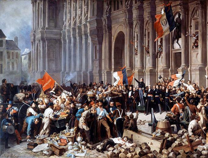 "Henri Félix Emmanuel Philippoteaux, ""Lamartine Rejects the Red Flag,"" 1901"