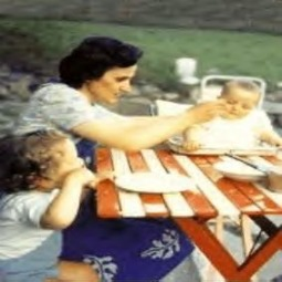 St. Gianna Beretta Molla with her children in the 1960s.