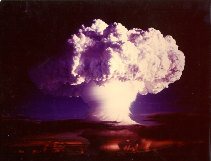 U.S. nuclear weapon test 'MIKE' of Operation Ivy Oct 31, 1952, the first test of a thermonuclear weapon (hydrogen bomb).