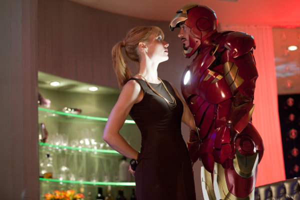 IT'S COMPLICATED. Pepper Potts (Gwyneth Paltrow) and Tony Stark (Robert Downey Jr.) in 'Iron Man 2.'