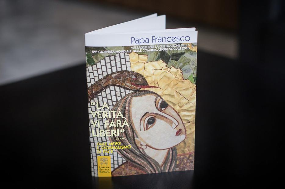 Booklet containing Pope Francis' World Day of Social Communications Message, released Jan. 24, 2018.