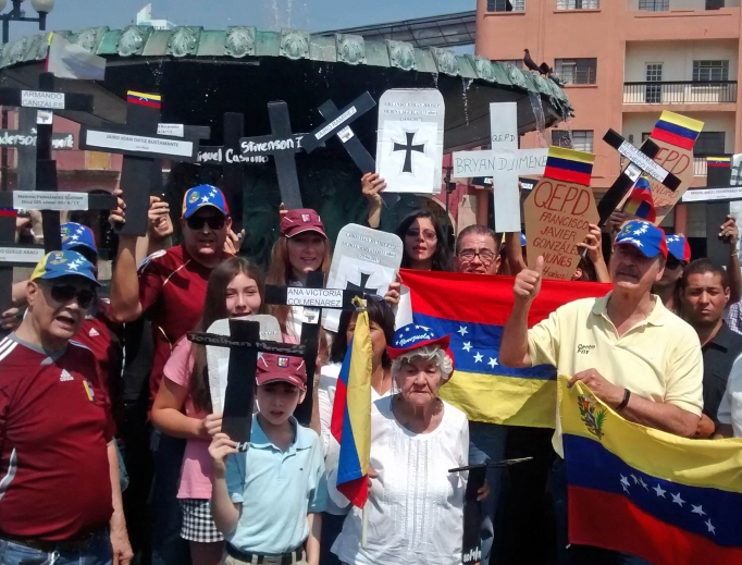 Venezuelans protest the direction President Nicolas Maduro is taking the country.
