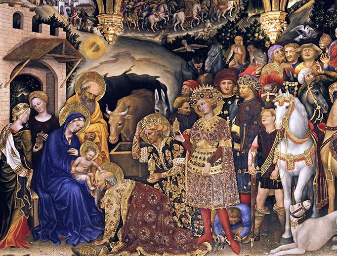 """Gentile da Fabriano, """"The Adoration of the Magi"""", 1423"""