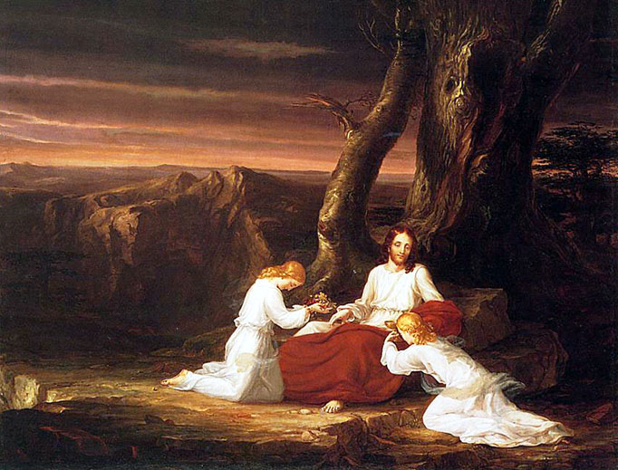 "Thomas Cole, ""Angels Ministering to Christ in the Wilderness,"" 1843"