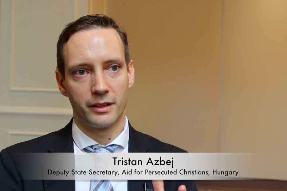 Tristan Azbej, Hungary's deputy state secretary for the Aid of Persecuted Christians.