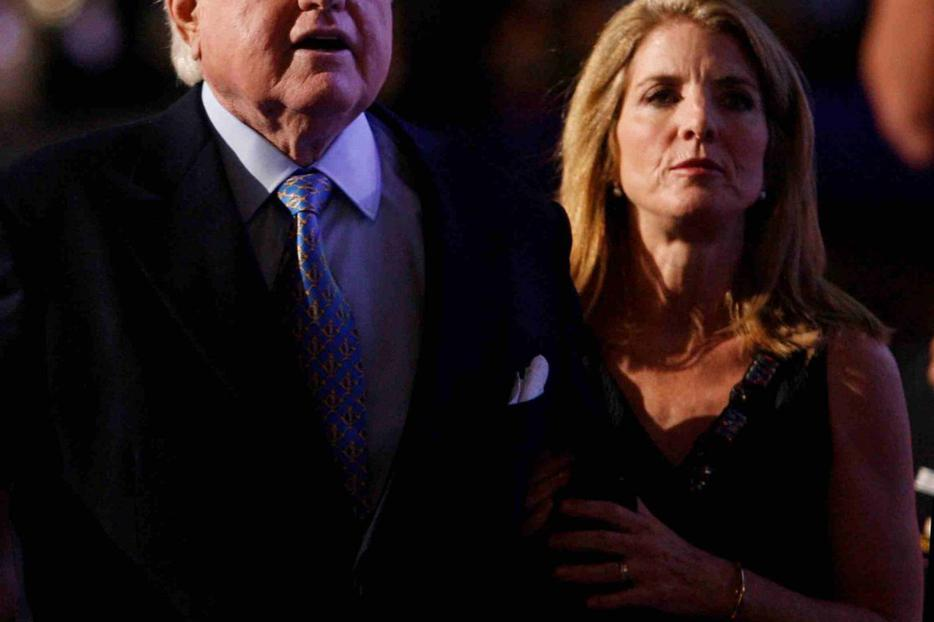 Edward and Caroline Kennedy.