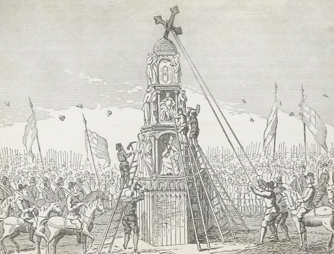 Destruction of the Cheapside Cross, 1647
