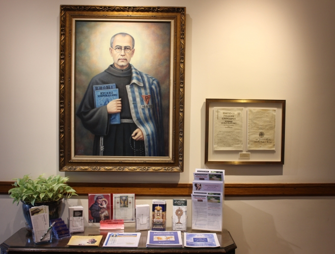 The Our Lady of the Blessed Sacrament Chapel and images of the martyred saint in Libertyville, Illinois, pay tribute to St. Maximilian Kolbe, whose feast day is Aug. 14.