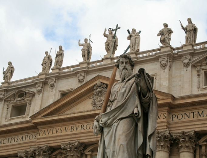 The facade of St. Peter's.