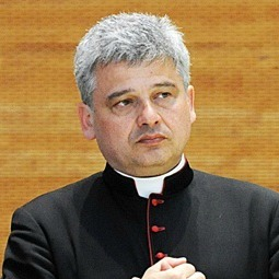 Archbishop Konrad Krajewski, papal almoner