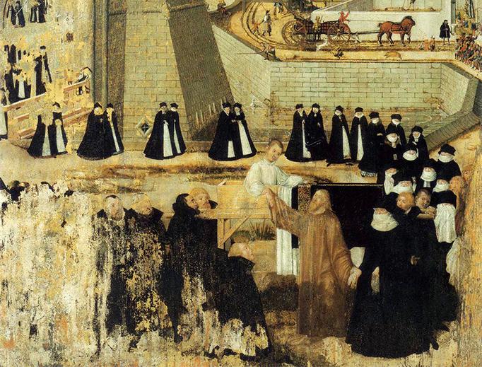 """Lucas Cranach der Jüngere, """"The Miracle at Nain,"""" 1569"""