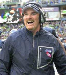 Seattle Seahawks defensive coordinator Dan Quinn