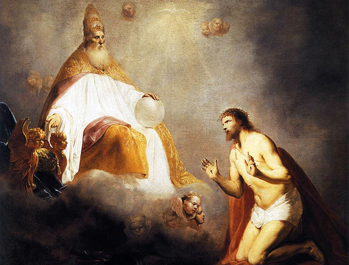 """Pieter de Grebber (c. 1600-1652/1653), """"The Father Bidding Christ to Sit at His Right Hand,"""" 1645"""