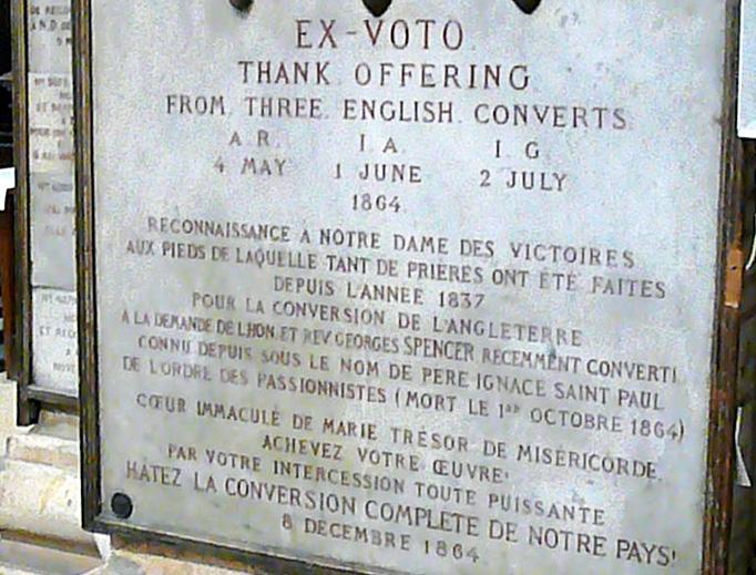 Ex Voto at Notre-Dame-des-Victoires, Paris