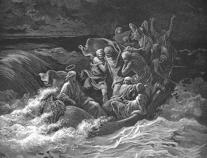 "Gustav Doré (1832-1883), ""Jesus Calming the Tempest"""