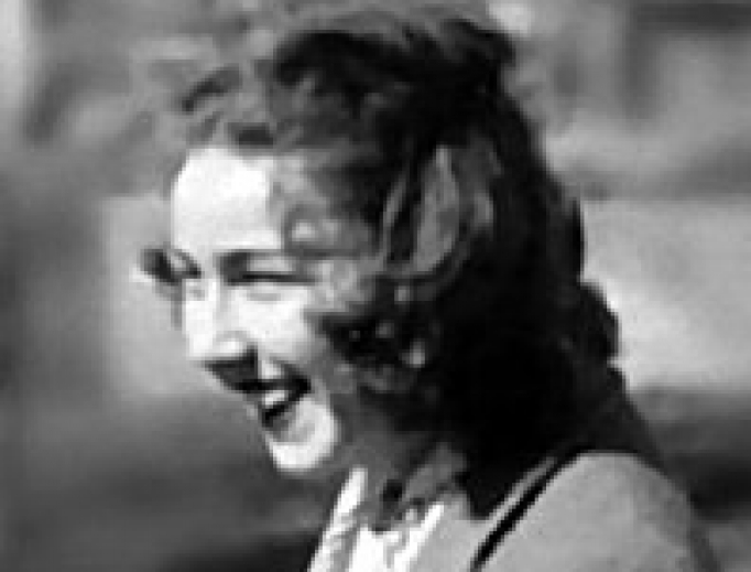 Flannery O'Connor in 1947.