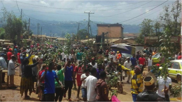 Peaceful independence demonstration in Bamenda, Cameroon, Sept. 22, 2017