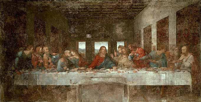 """Leonardo Da Vinci's """"Last Supper""""."""