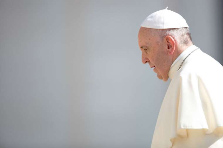 Pope Francis at a general audience in Rome in June.