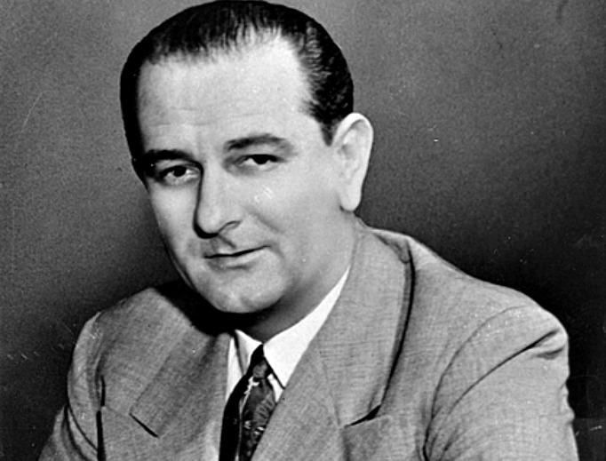 Sen. Lyndon B. Johnson, D-Texas