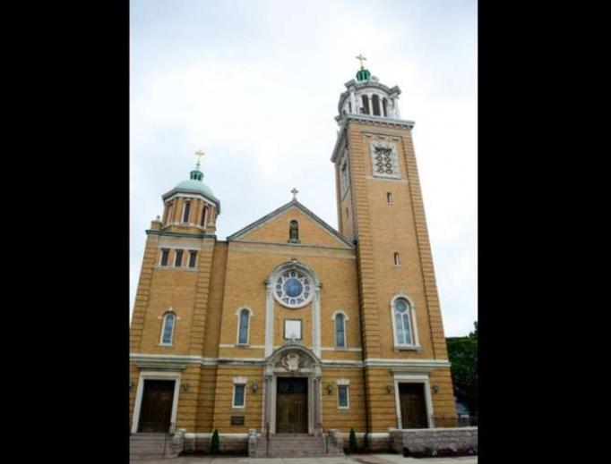 St. Joseph's Catholic Church in New Haven.